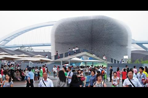 The pavilion is one of the most popular at the Expo, with more than 50,000 visitors a day
